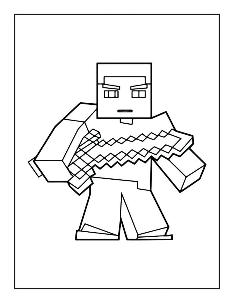 Free MINECRAFT Coloring Pages for Download (PDF)