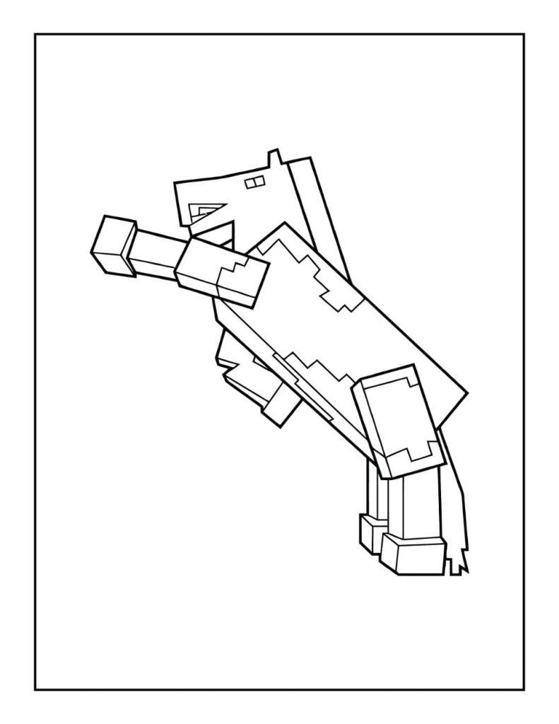 Minecraft Horse Rearing on Hind Legs