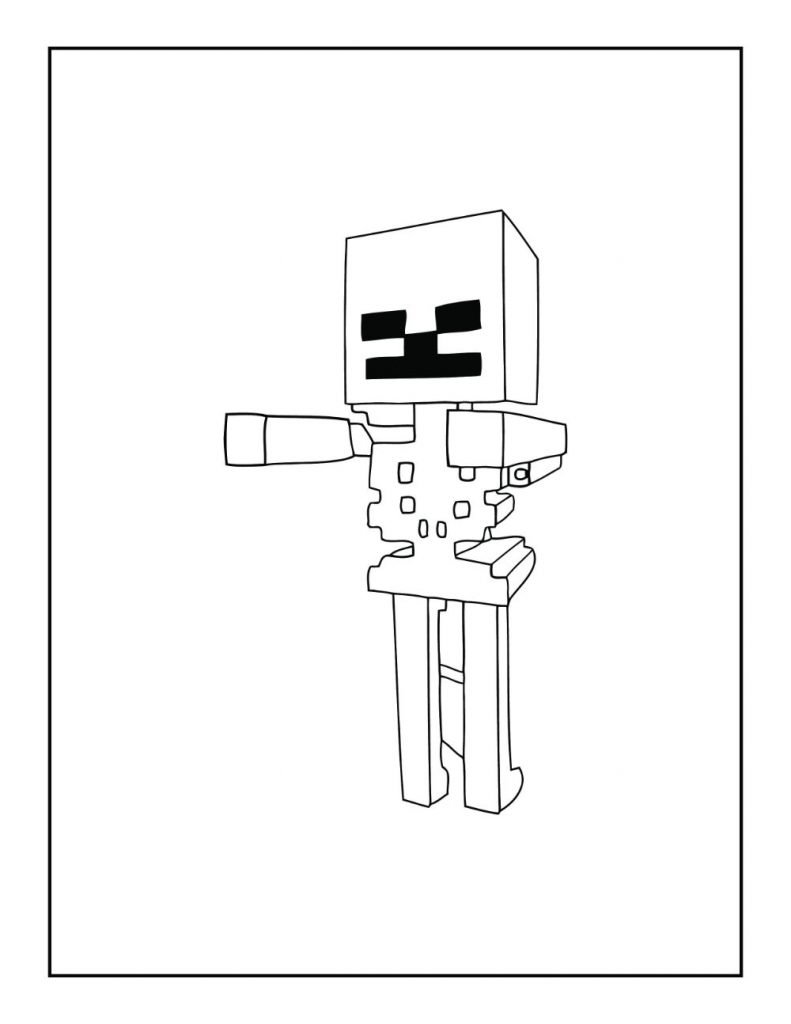 Minecraft Skeleton without a Bow and Arrow