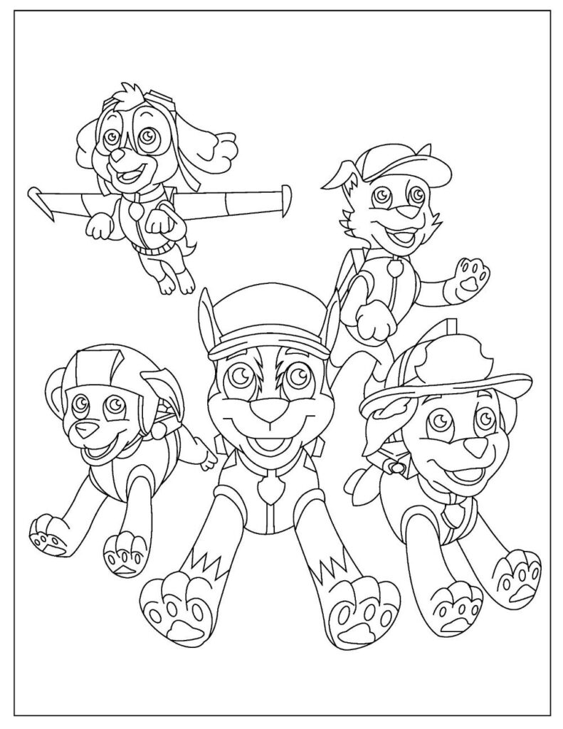 Free PAW PATROL Coloring Pages for Download (PDF)