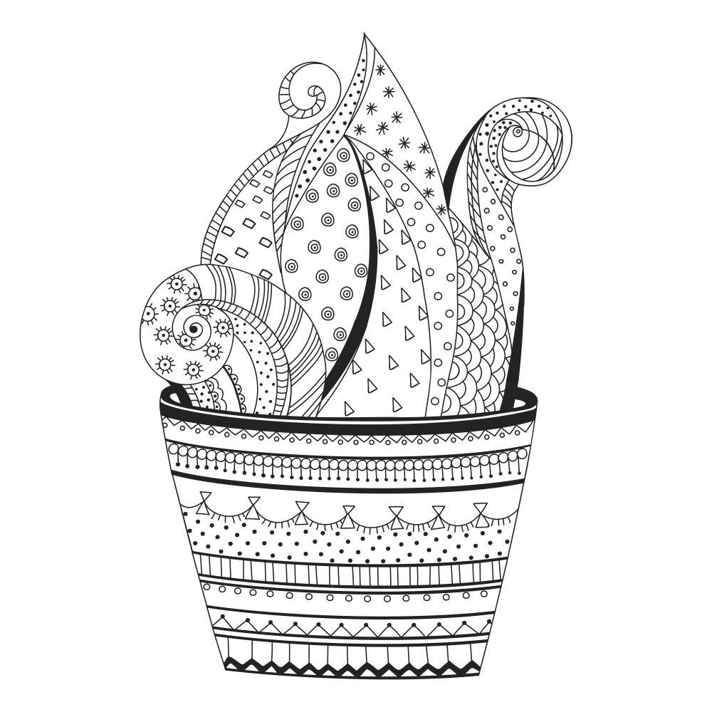 Succulent in a elaborate pot.