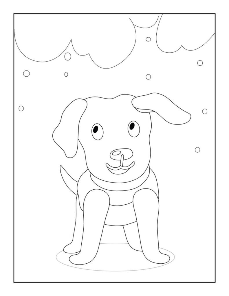 Free DOG Coloring Pages for Download (PDF)