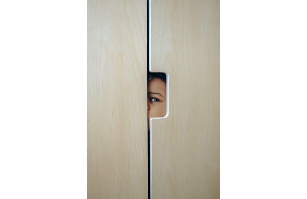 Peeping in Peek-a-Boo.
