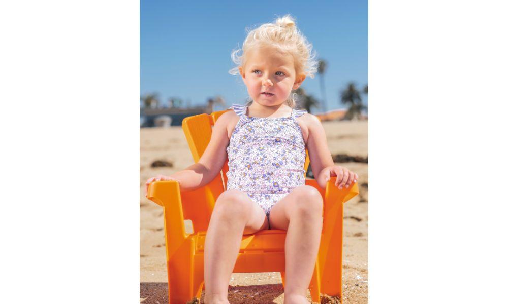 Outside Chair on a Beach.