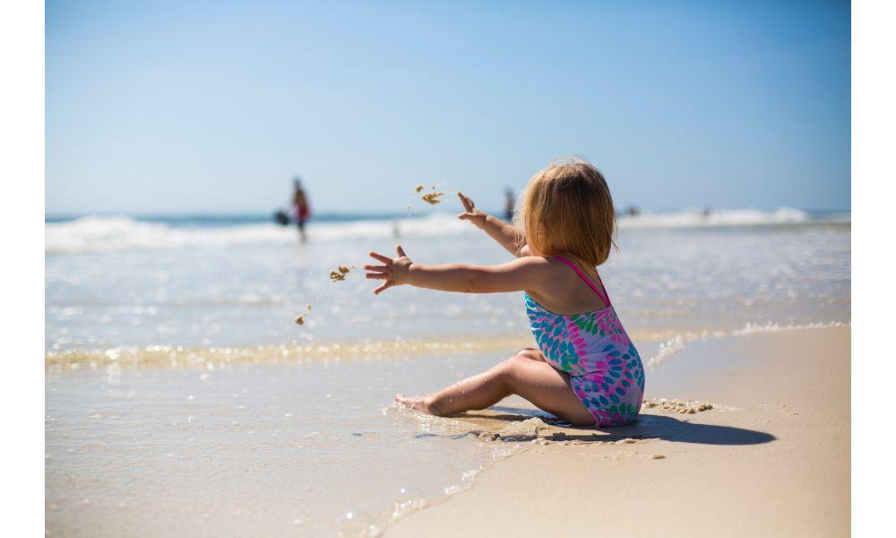 A Baby on a Beach