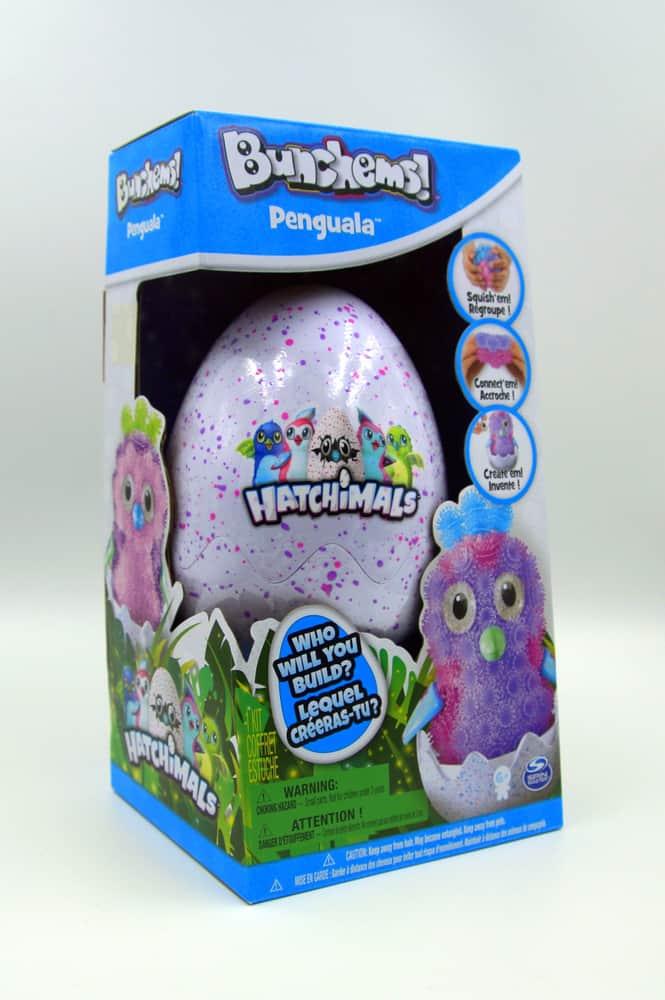 Bunchems Hatchimals penguala surprise egg in retail box.