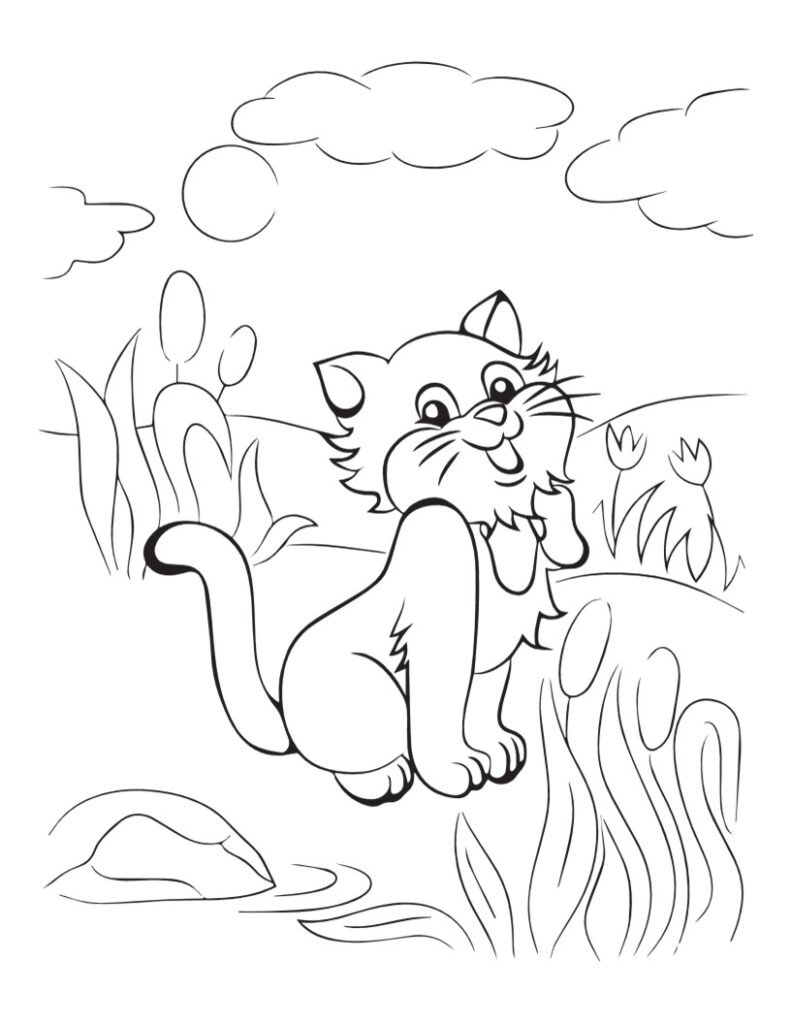 Free CAT Coloring Pages for Download (PDF)