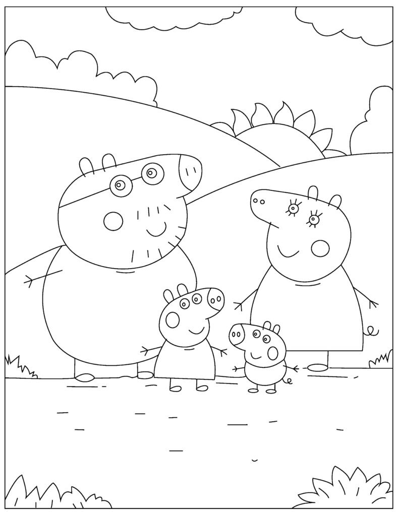 Free Peppa Pig Coloring Pages For Download Pdf Verbnow
