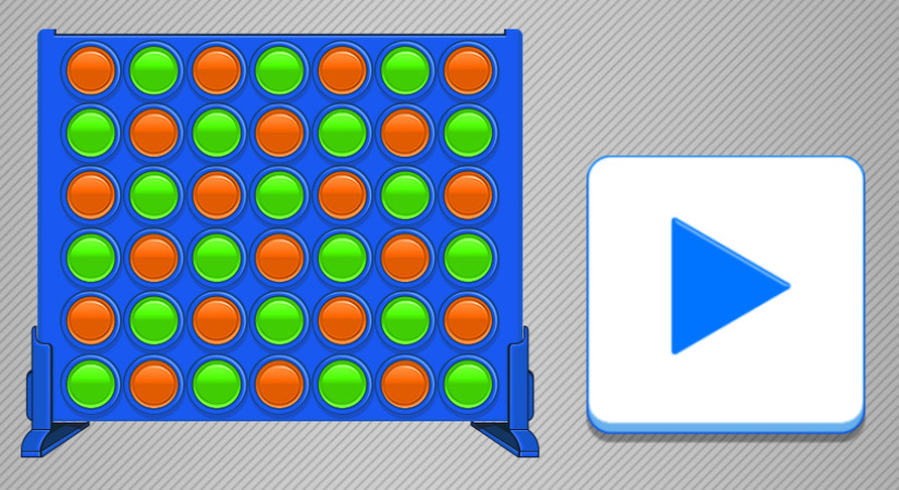Straight 4 Puzzle Game