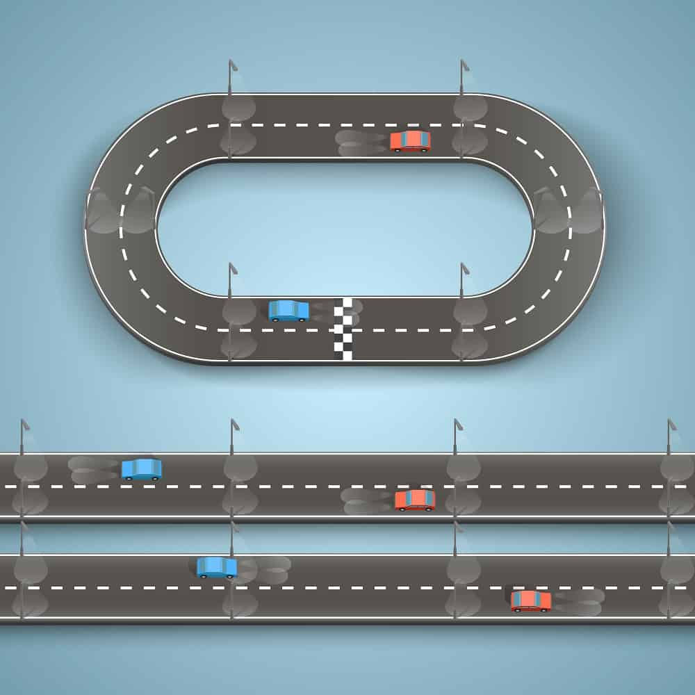 This is a wall taped toy with cars and roads.