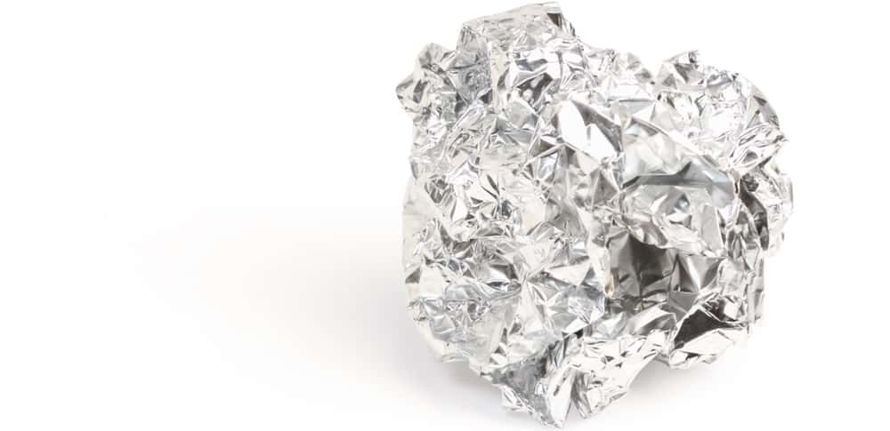 This is a ball made of foil.