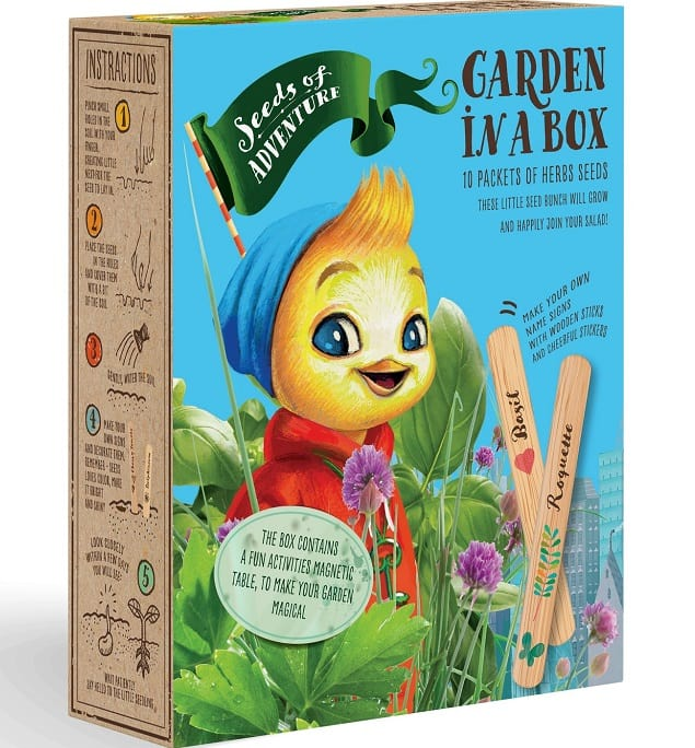 The Herbs Seeds Garden in a box from Natural green Seeds.