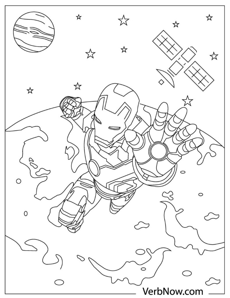 Free IRON MAN Coloring Pages for Download PDF