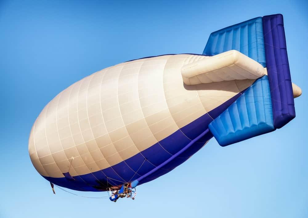 Airship balloon in the sky.