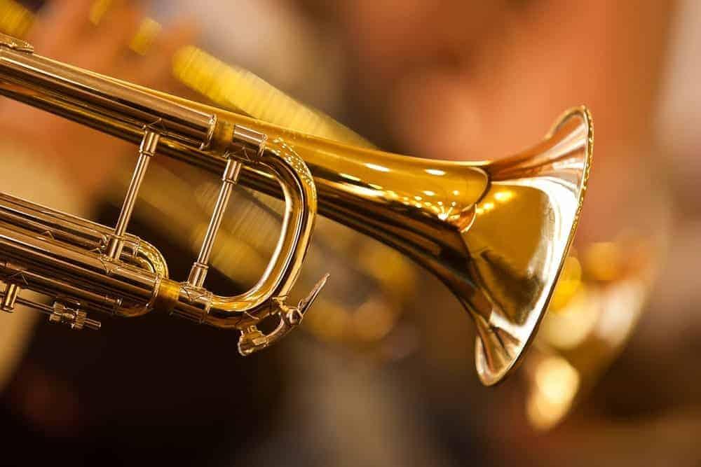 Fragment of a brass trumpet.