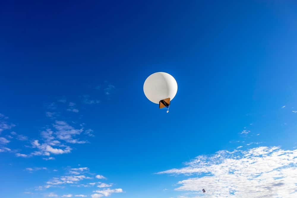Ceiling balloon in the sky.