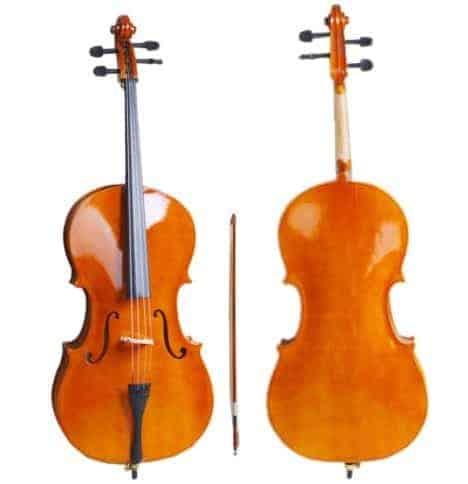 Professional Cello 4/4 Full Size BassWood Set with Bag+Bow+Rosin+Bridge