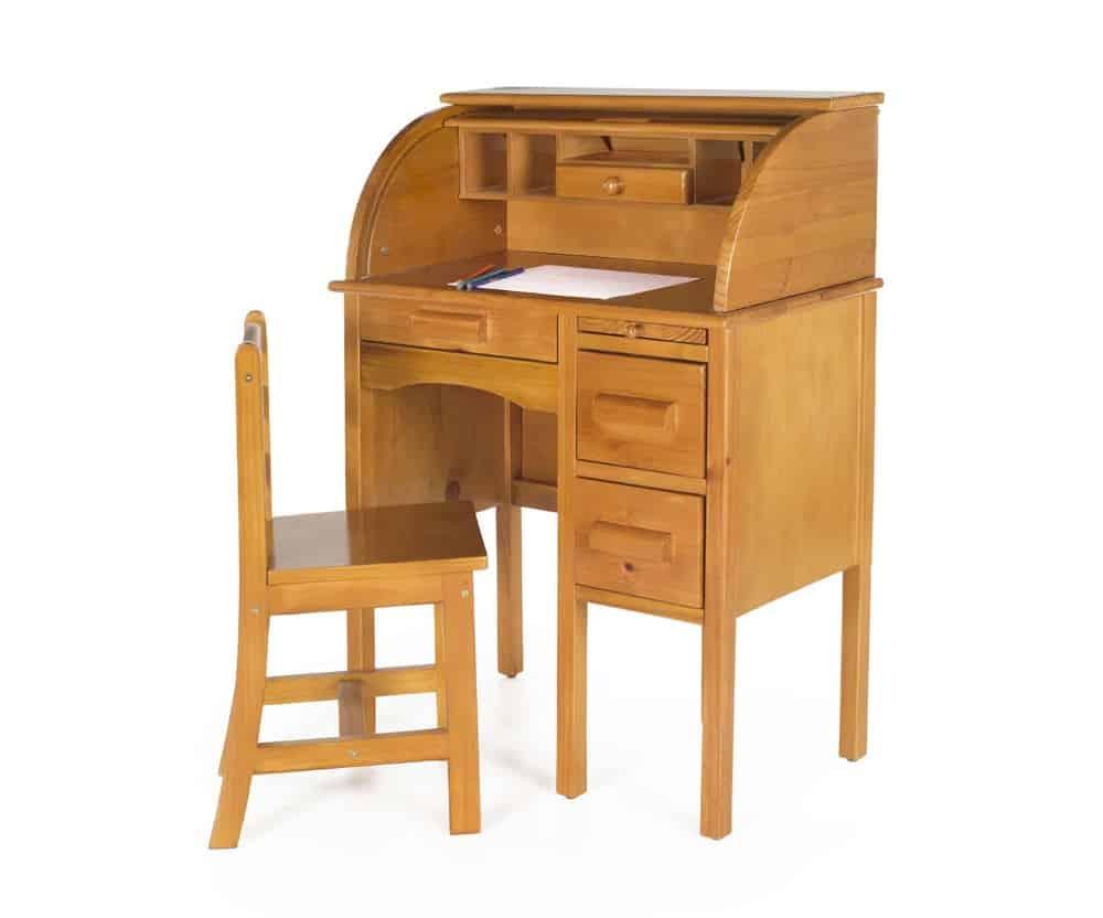 Jr. Roll-Top Desk - Light Oak