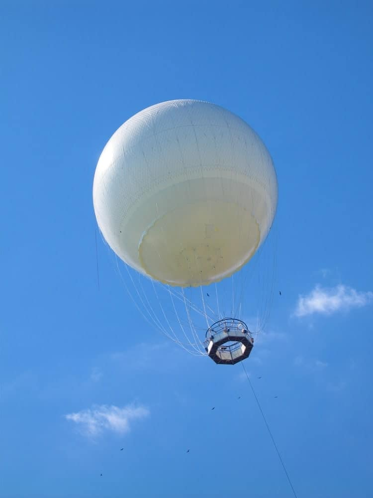Research balloon in the sky.