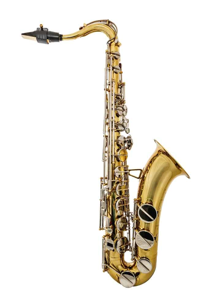 Golden tenor saxophone
