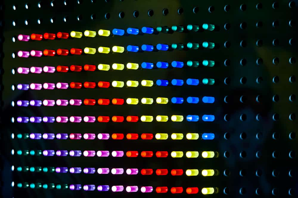 This is a close look at the Lite Brite toy.