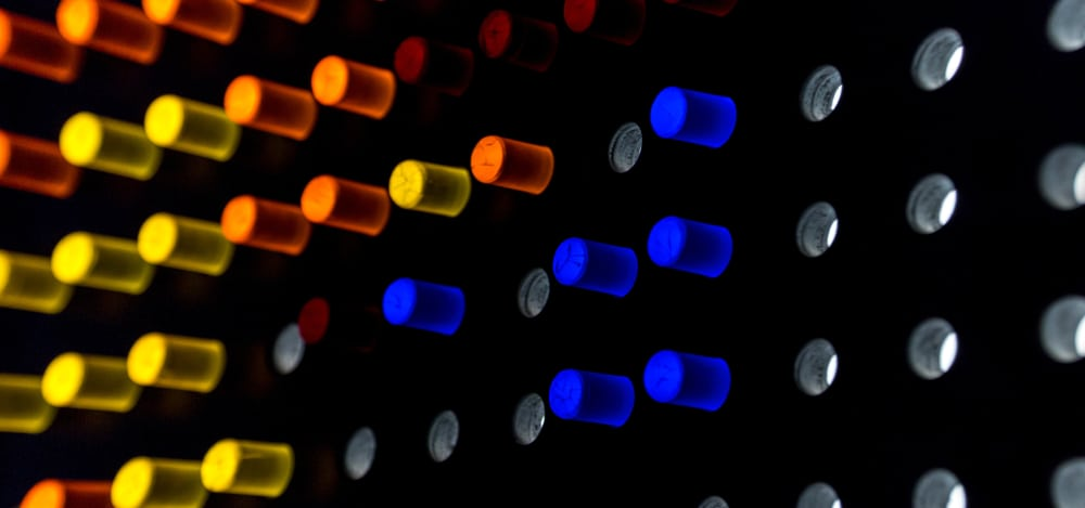This is a close look at the Lite Brite Magic Screen.