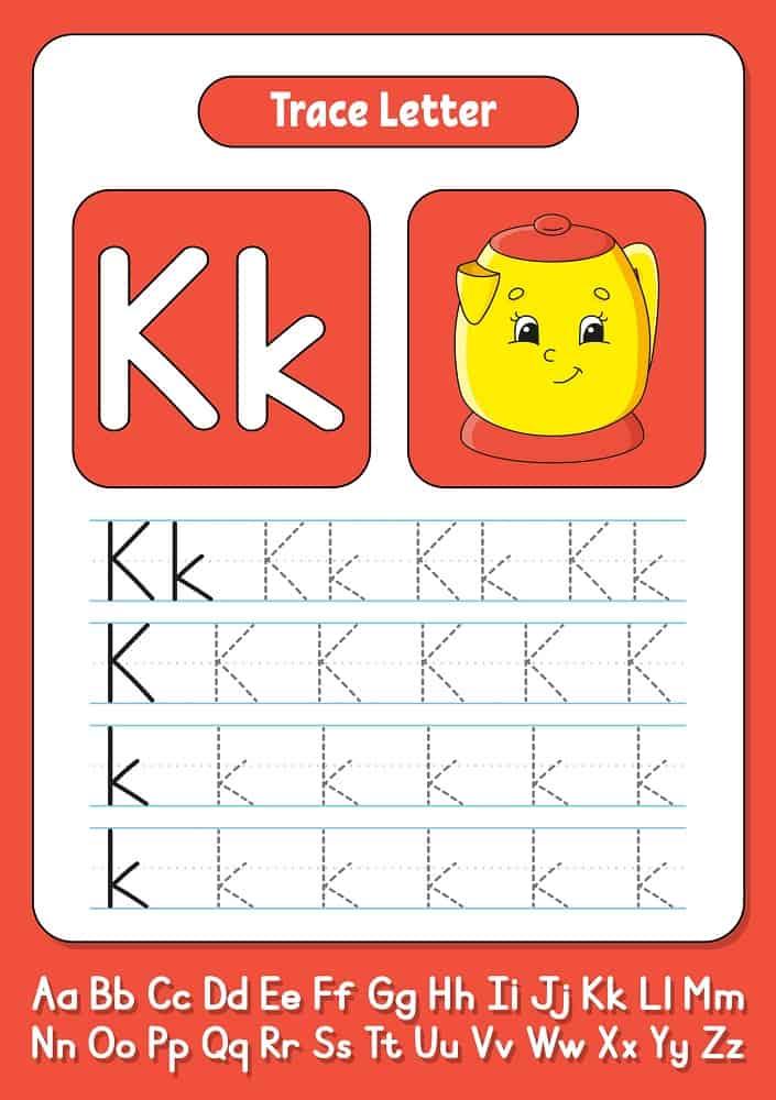 Alphabet tracing pad
