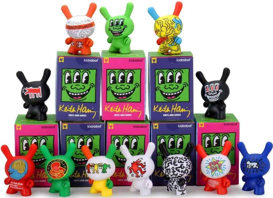 The Keith Haring Dunny Series toys from Mindzai.