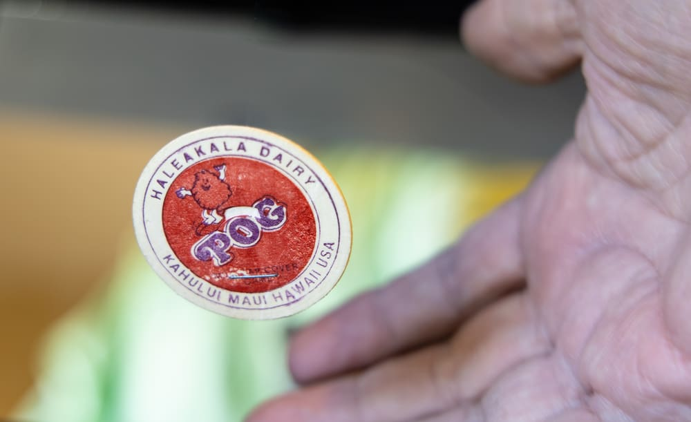 This is a close look at an original vintage Pog piece from Hawaii.