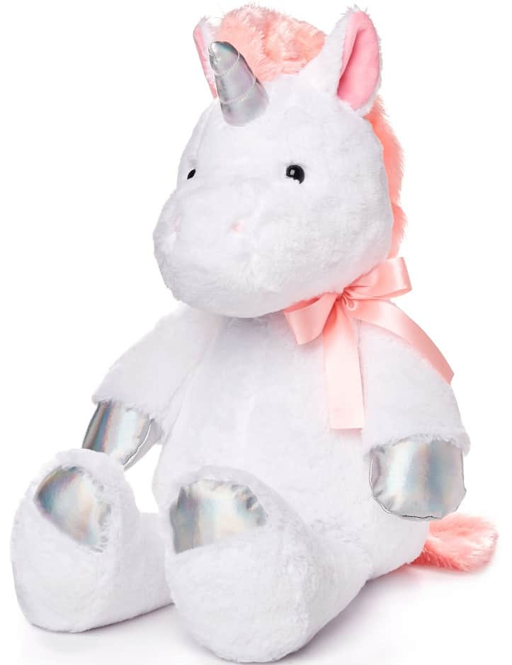 This is the Spark Create Imagine Metallic Plush Unicorn from Walmart.