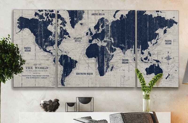 The Parchment 'Old World Map' Graphic Art Multi-Piece Image on Canvas from Wayfair.