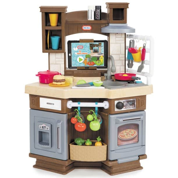 The Little Tikes Cook 'n Learn Smart Play Kitchen with 40+ Piece Accessory Play Set and 4 Play Modes from Walmart.