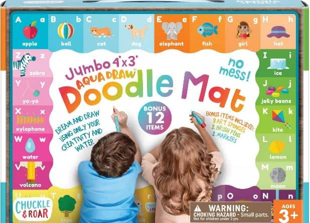 This is the Chuckle & Roar Jumbo 4' x 3' Aqua Draw Doodle Mat from Target.