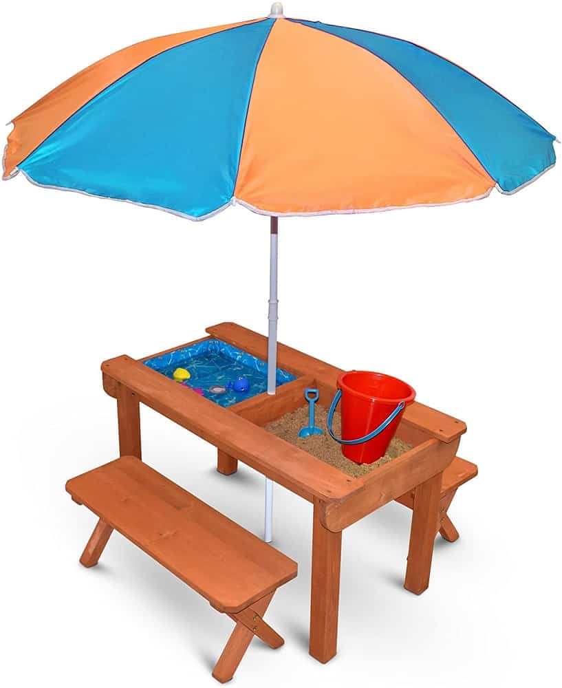 The Back Bay Play Kids Sand and Water Table from Walmart.