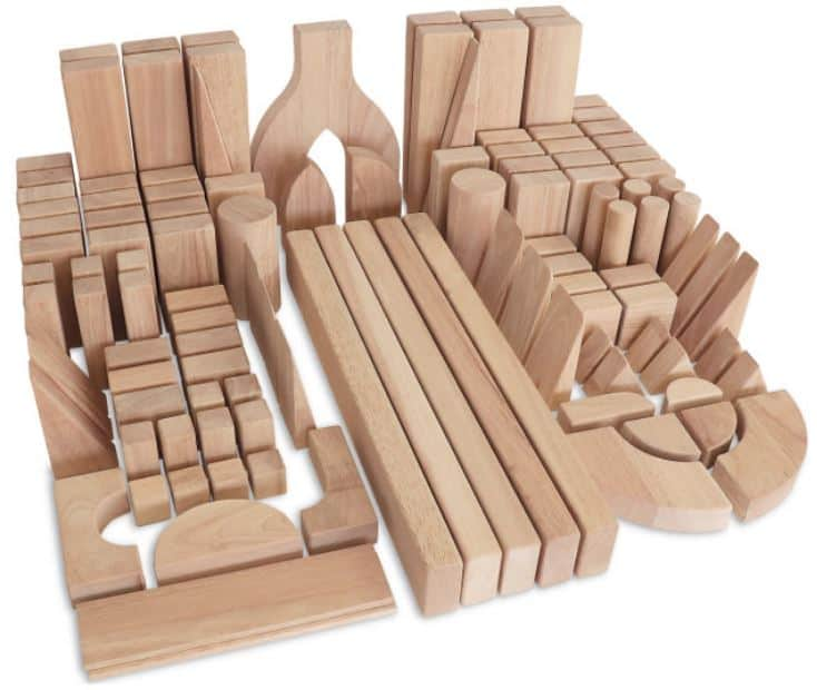 This is the Whitney Brothers Rubberwood 118 Piece Intermediate Block Set from Houzz.