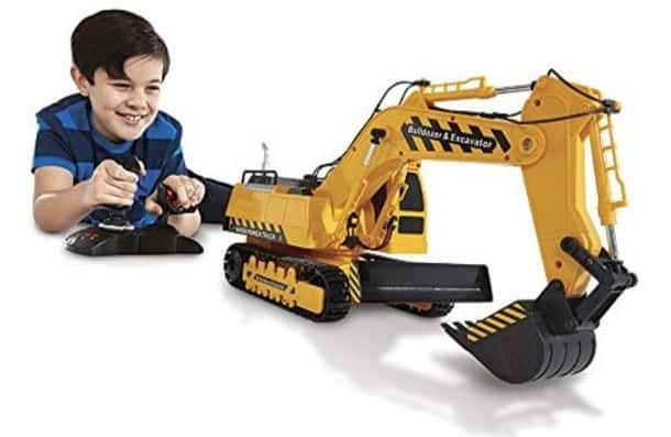 The Kid Galaxy Mega Construction Remote Control Excavator & Bulldozer from Walmart.