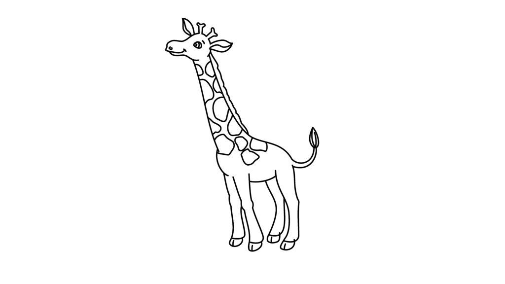 Step 10 To Drawing A Giraffe