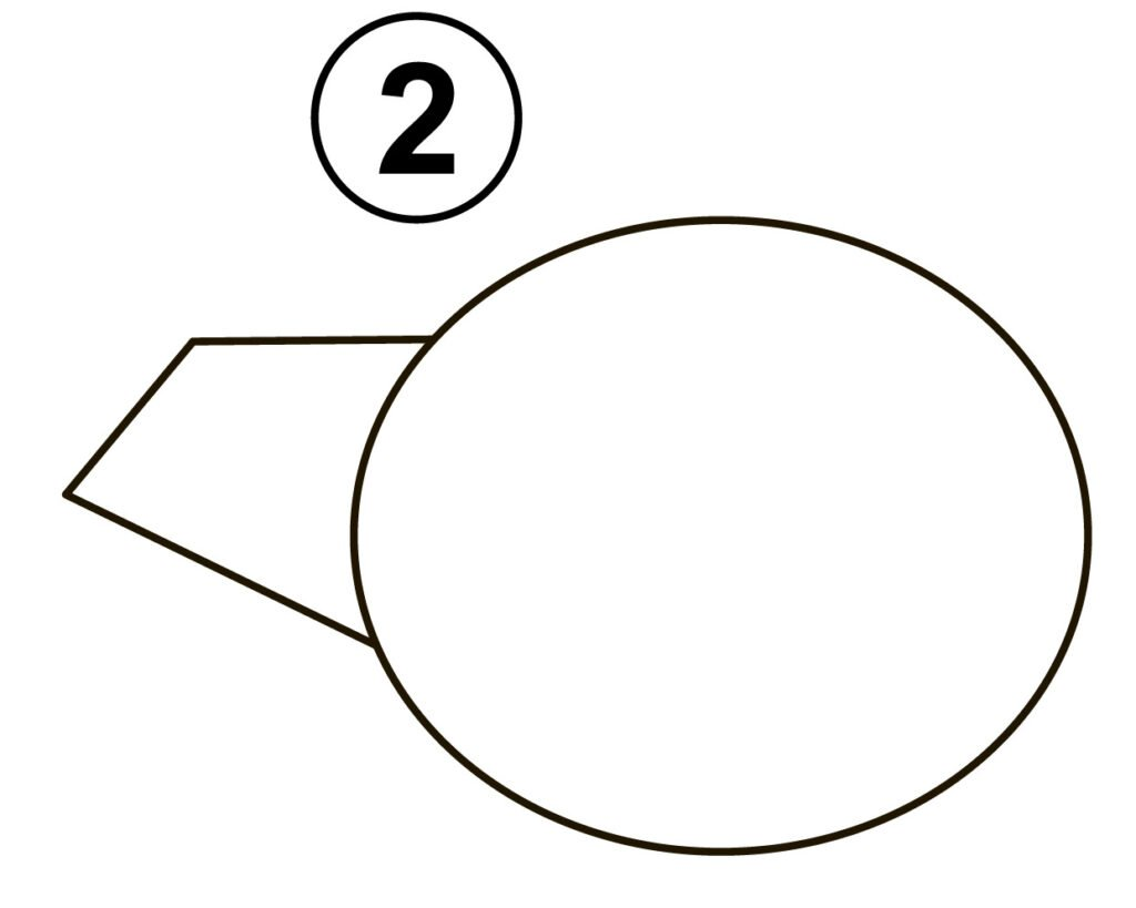 Step 2 for drawing helicopter