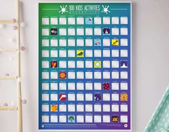 The 100 Kids Activities - Scratch off Bucket List from Wicked Uncle.