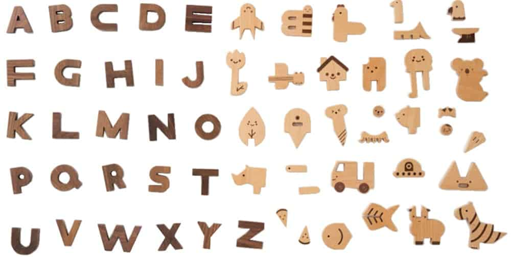 The OiOiooi Alphabet Play Blocks from The Tot.