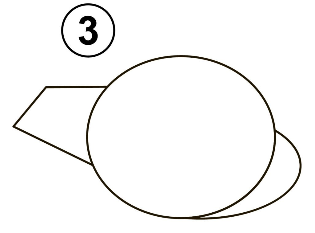 Step 3 for drawing helicopter
