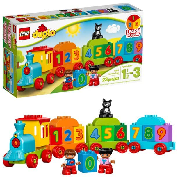 The LEGO DUPLO My First Number Train 10847 (23 Pieces) from Walmart.