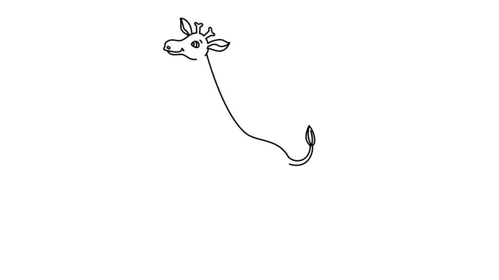 Step 4 To Draw A Giraffe