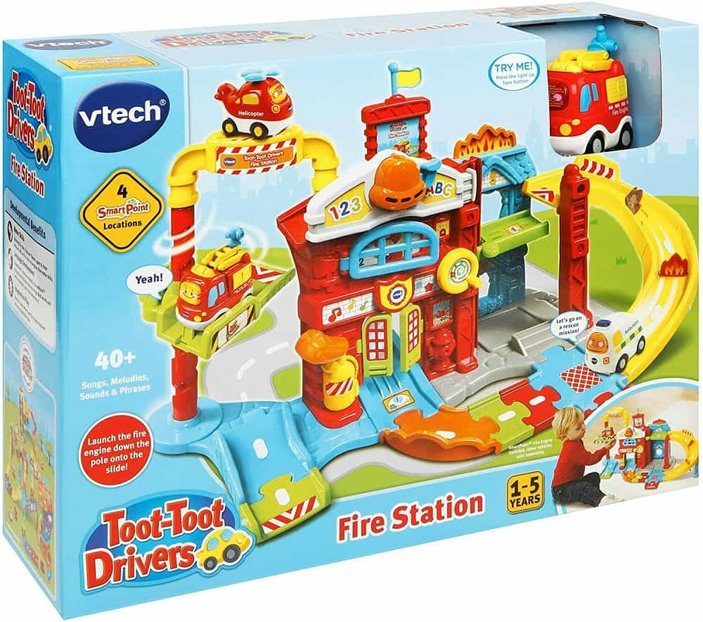 The VTech 503903 Toot-toot Drivers Refresh Fire Station UK from eBay.
