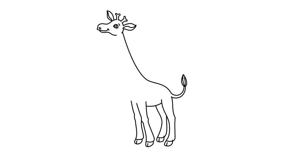 Step 7 To Drawing A Giraffe