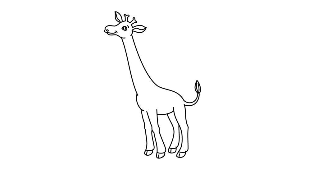 Step 8 Of Drawing A Giraffe