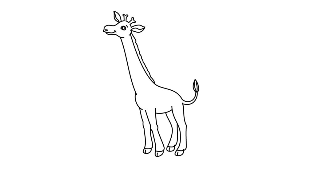 Step 9 of drawing a giraffe