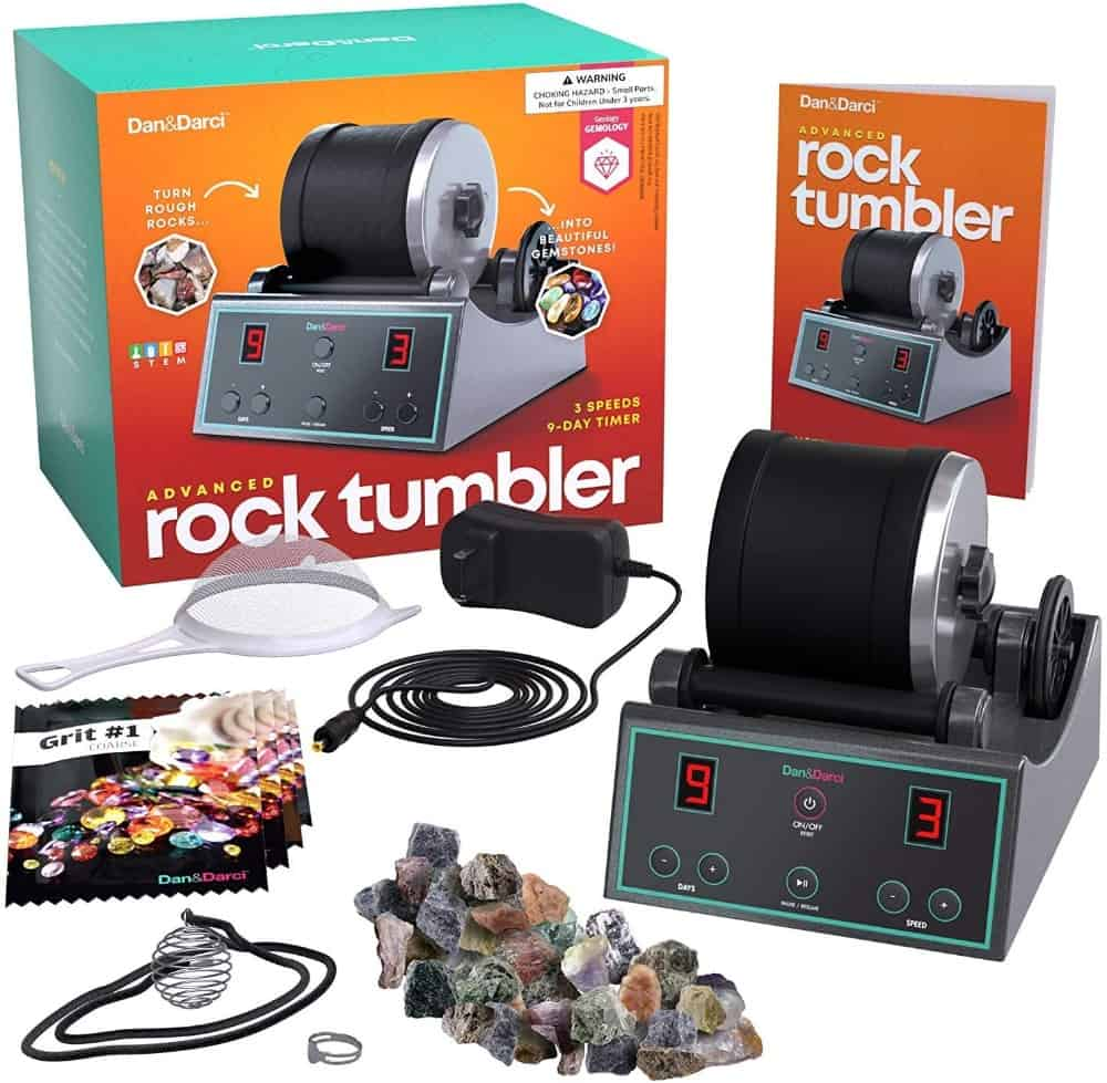 Advanced Professional Rock Tumbler Kit - with Digital 9-day Polishing timer & 3 speed settings