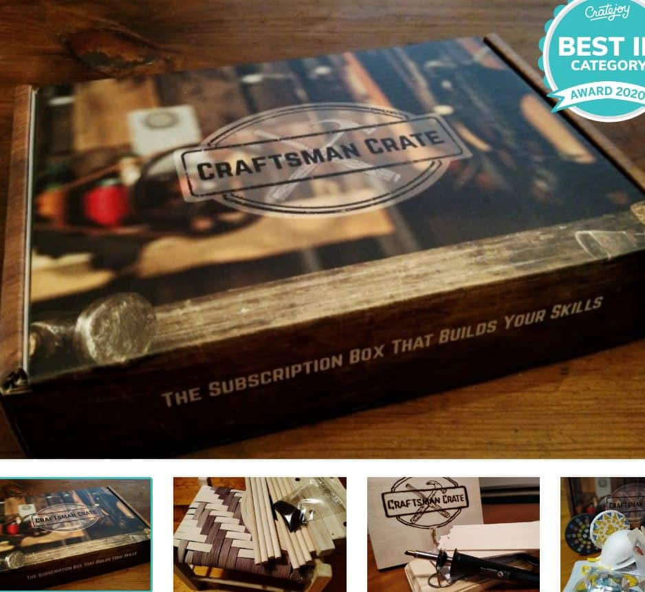 This is the Craftsman crate Subscription Box from Cratejoy.
